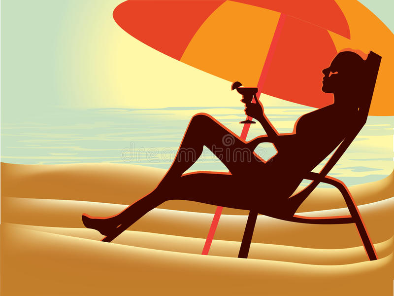 Download Girl on beach stock vector. Image of female, recreation - 20085206