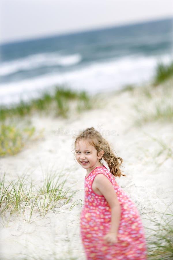 Girl on beach. stock image