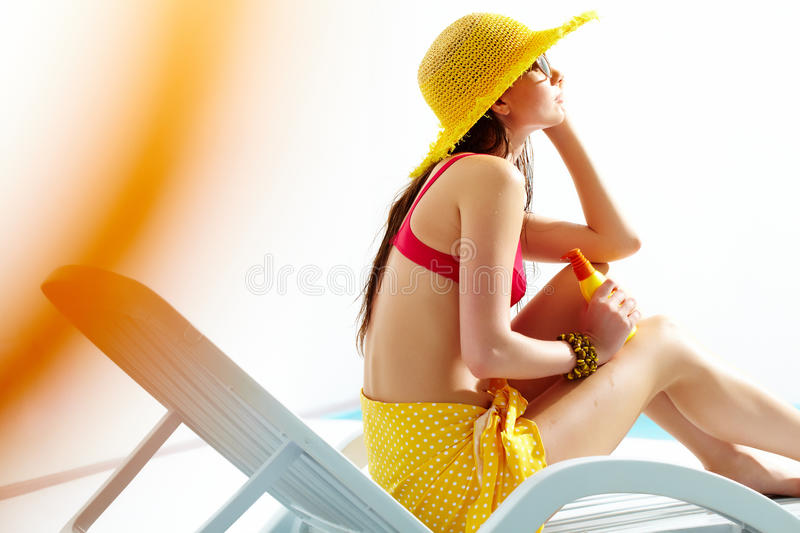Download Girl On The Beach Royalty Free Stock Image - Image: 21562206