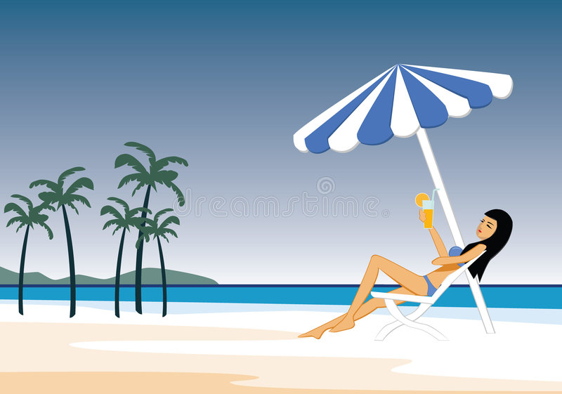 Download The Girl On The Beach Stock Photography - Image: 2323692