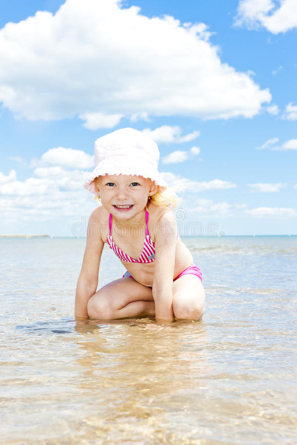 Download Girl on the beach stock image. Image of outdoors, sitting - 27009713