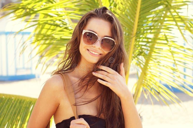 Download Girl at beach stock image. Image of beach, brunette, lingerie - 29390951