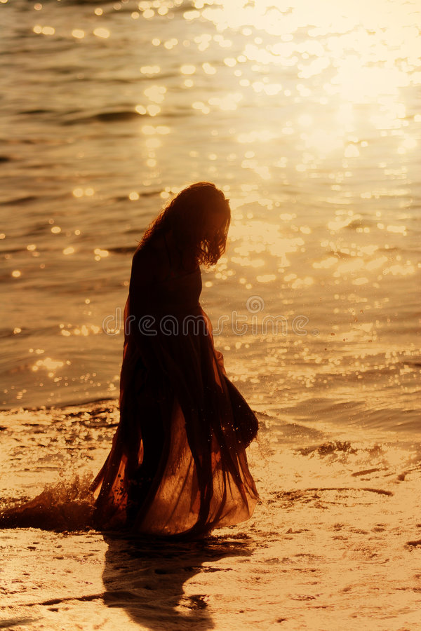 Download Girl on the beach stock image. Image of nature, people - 723459