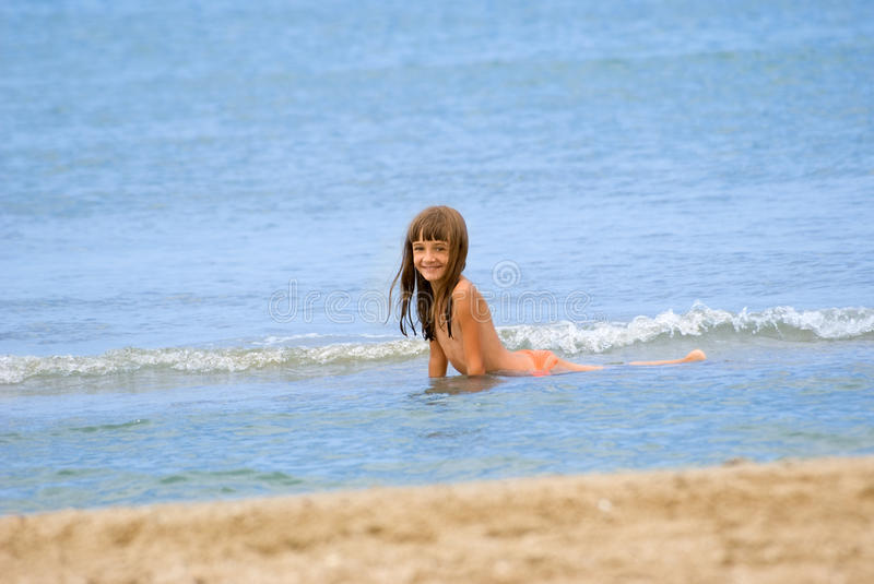 Download The girl on a beach stock photo. Image of wave, coastline - 30431980