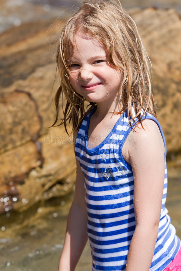 Download Girl and beach fun stock image. Image of daughter, lovely - 18489163