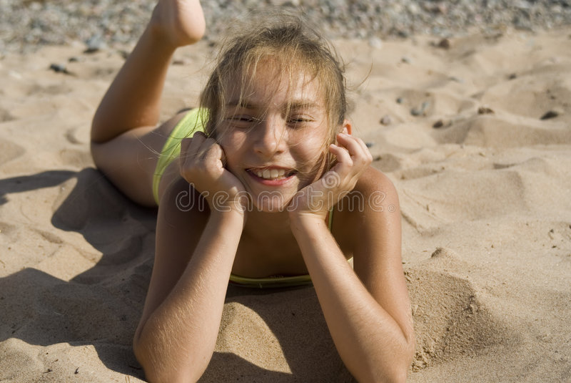 Girl On The Beach II Royalty Free Stock Photo