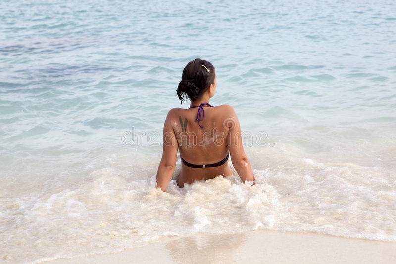 Download Girl on the beach stock photo. Image of recreation, water - 35563492