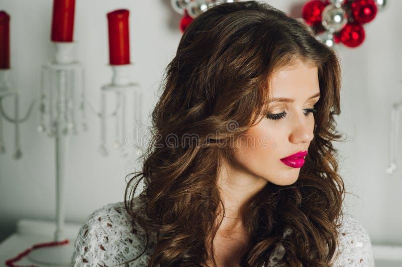 Girl. Beautiful girls, Christmas photo shoot stock images