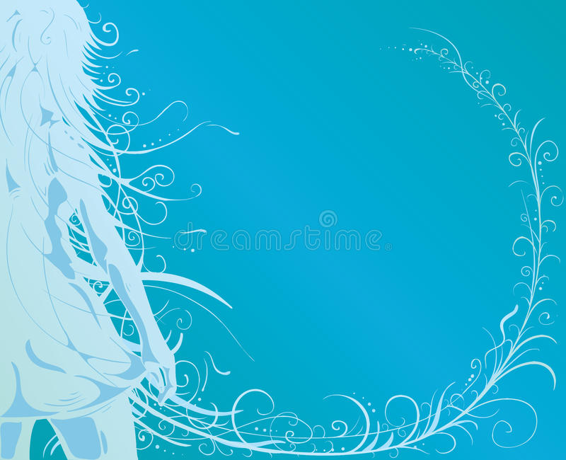 Girl with beautiful hair royalty free illustration
