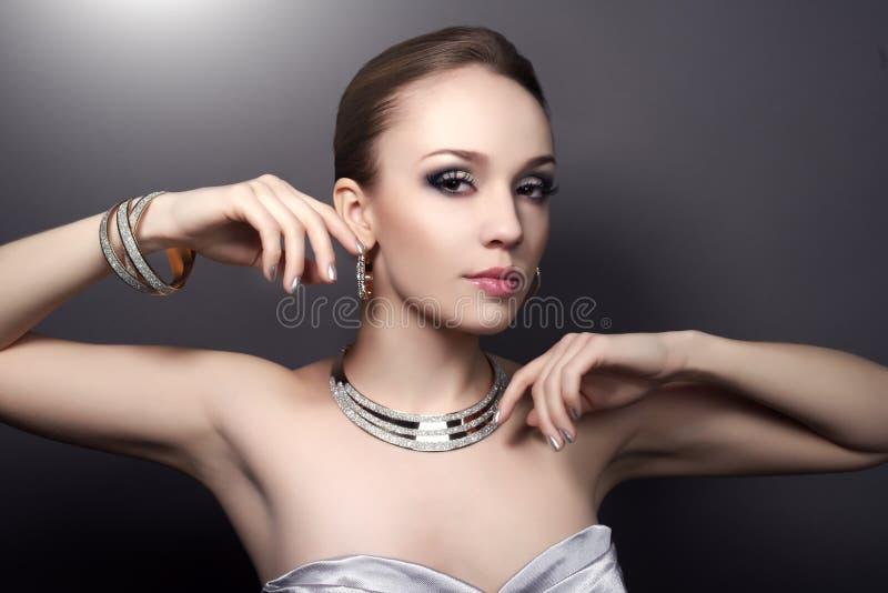 Girl with beautiful make-up stock photos