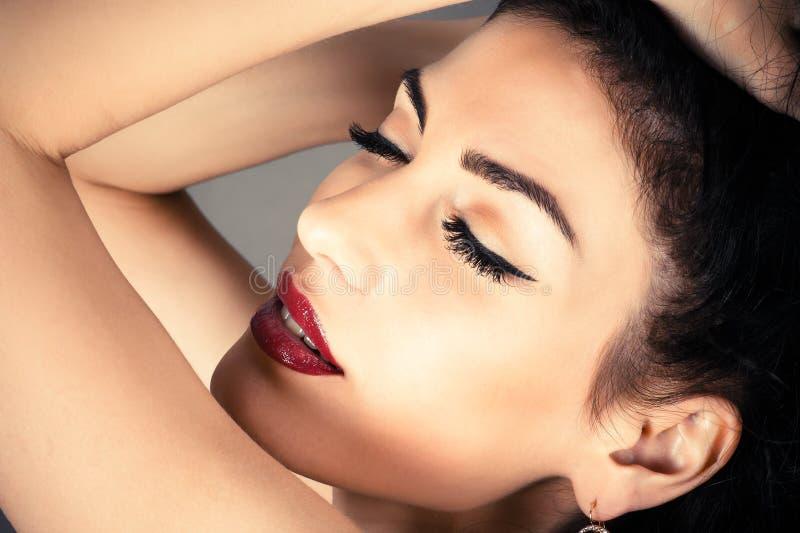 Girl with beautiful makeup royalty free stock photo