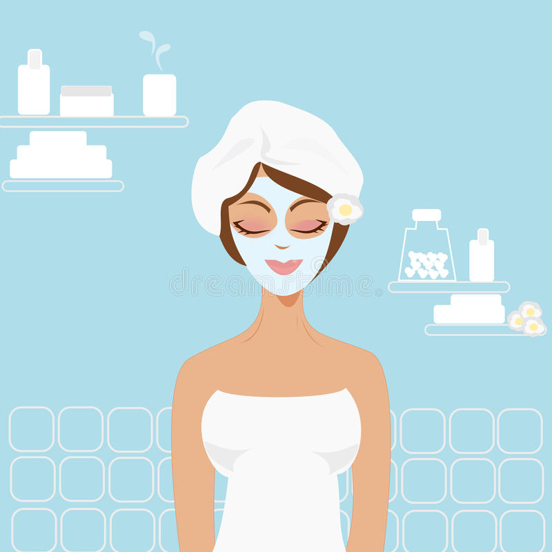 Girl in the beauty center royalty free stock photo