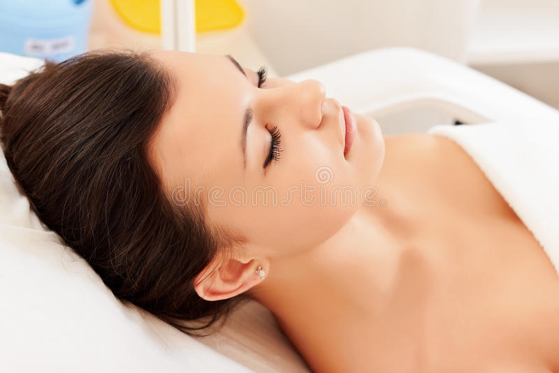 Download Girl in a beauty salon stock image. Image of body, smiling - 17348291