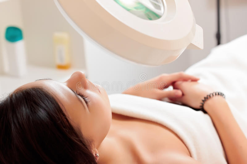 Download Girl in a beauty salon stock photo. Image of shoulder - 17424728