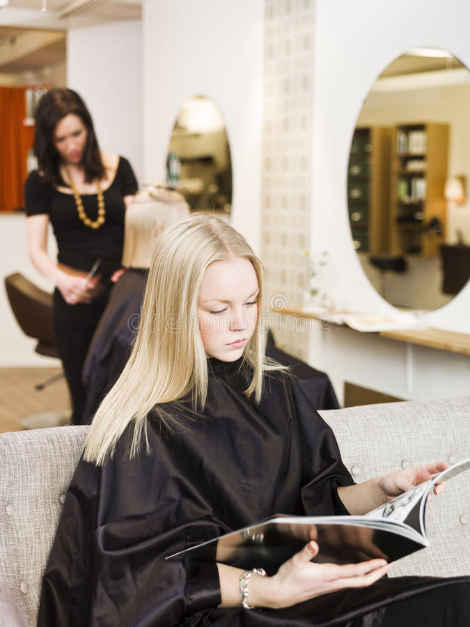 Girl in the Beauty Spa stock photos