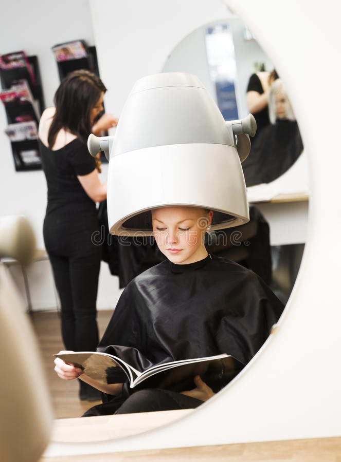 Girl at the Beauty Spa royalty free stock image