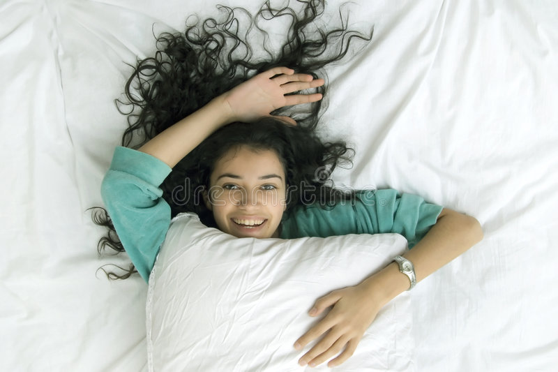Download Girl In Bed Stock Photos - Image: 1779943
