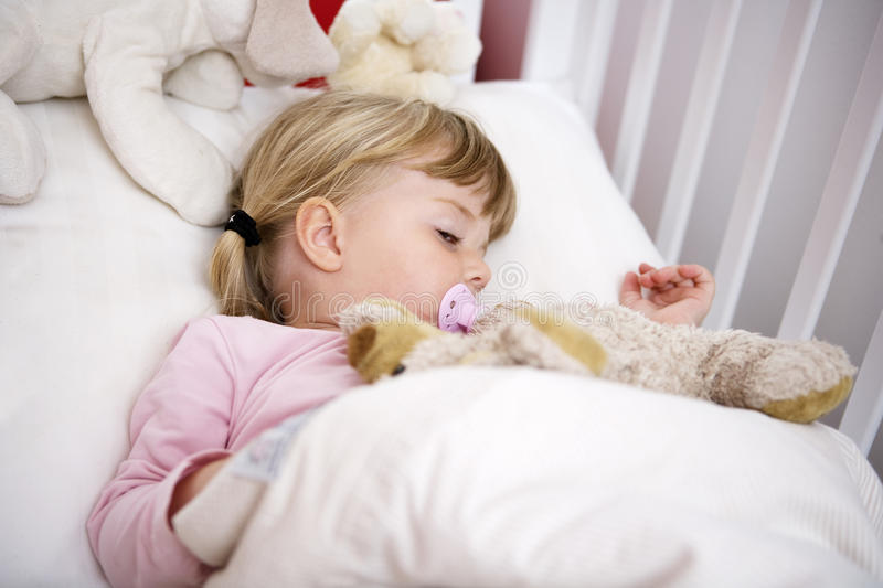 Download Girl in bed stock image. Image of cuddle, daughter, hand - 27178855