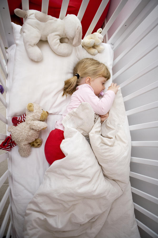 Download Girl in bed stock photo. Image of infants, goodnight - 27178904