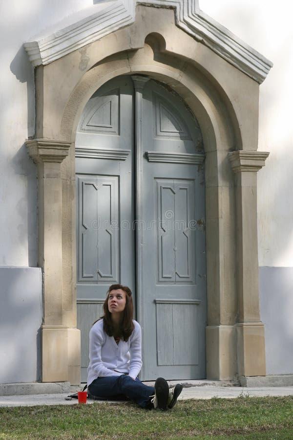 Free Girl Before Church Stock Photos - 3275573