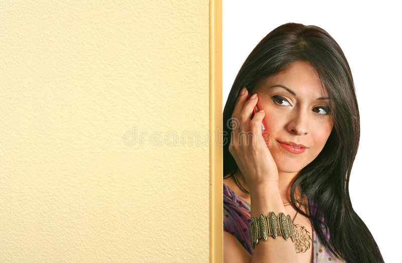 Download Girl Behind A Board Stock Image - Image: 2302011