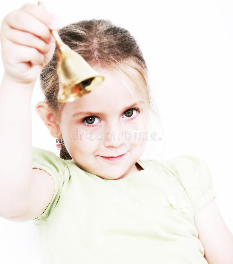 Girl with bell royalty free stock photos
