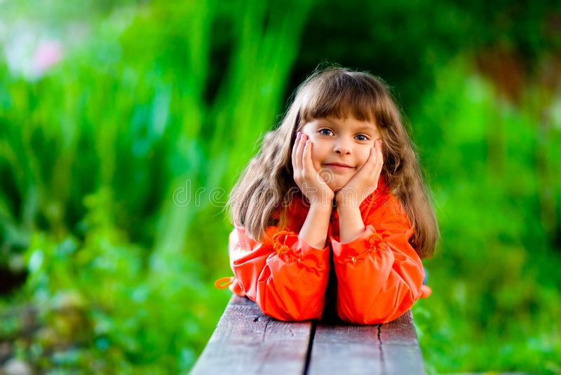 Download Girl On Bench Royalty Free Stock Image - Image: 5960056