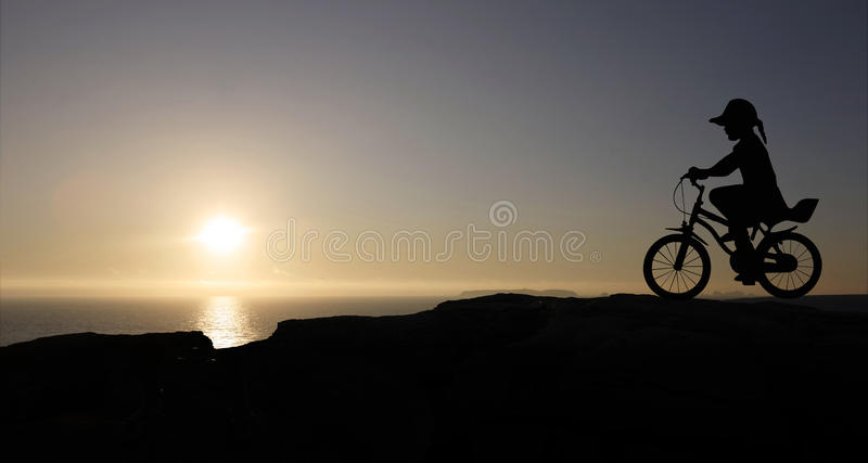 Download Girl and bicycle stock image. Image of disc, aluminum - 12524933