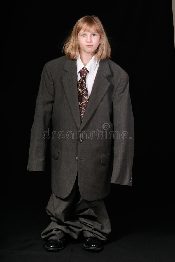 Download Girl in Big Business Suit stock image. Image of baggy - 3906725