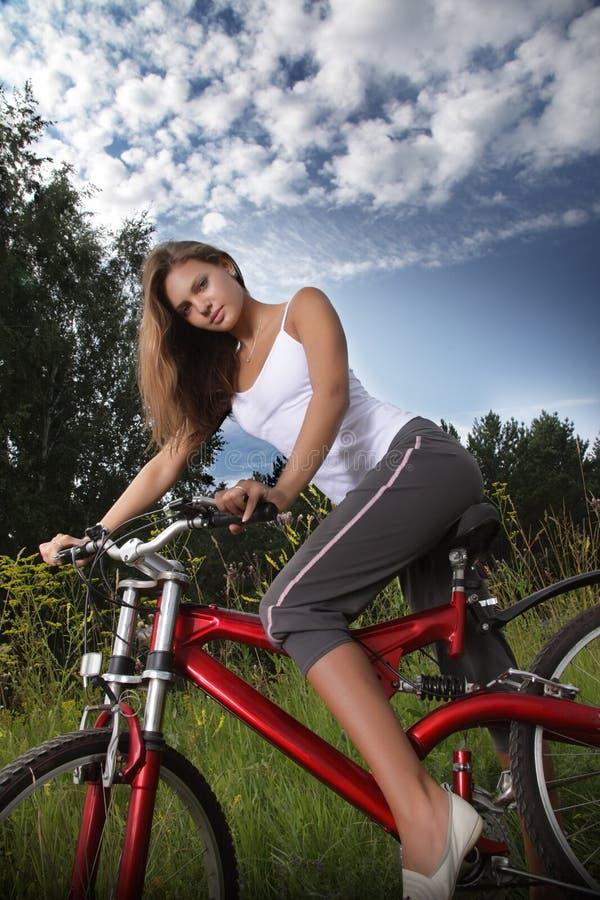 Download Girl on bike stock image. Image of happiness, little - 18487839