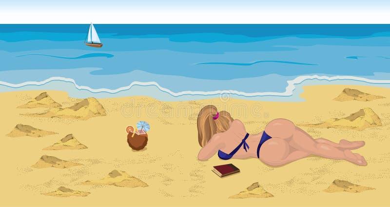 Download Girl In Bikini On The Beach Royalty Free Stock Photo - Image: 22425845