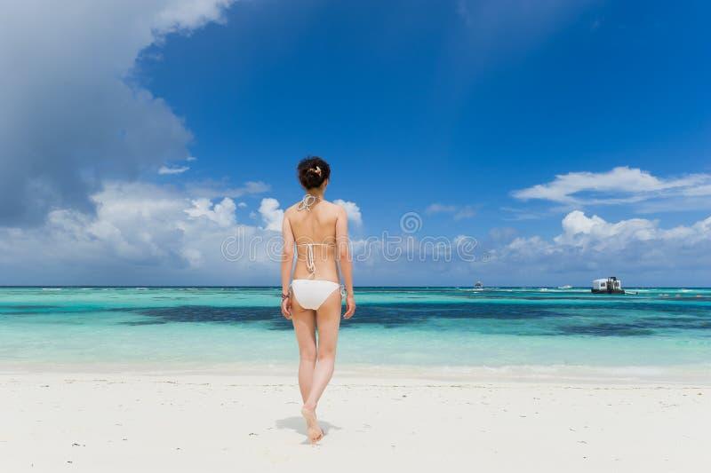 Download Girl In Bikini Standing On Beach Stock Image - Image: 19911983
