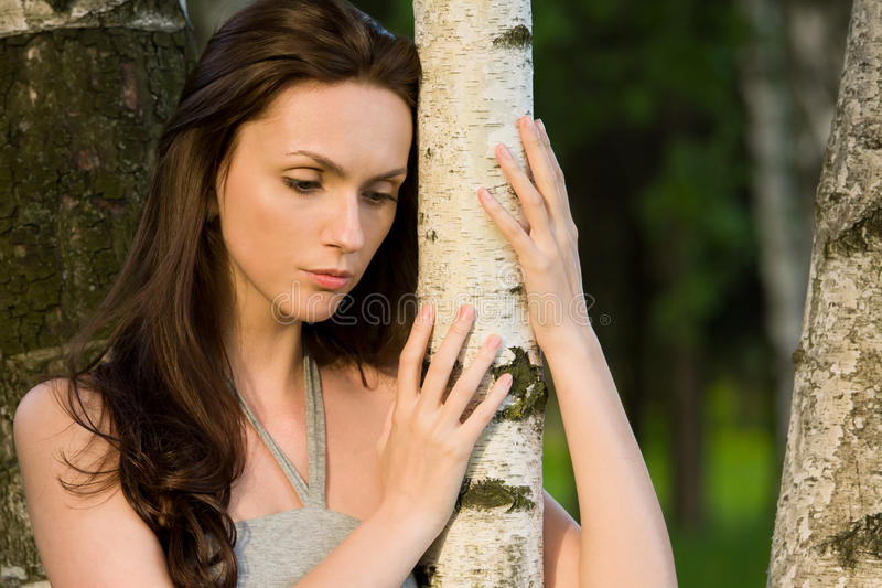 Download Girl in a birch grove stock photo. Image of birch, person - 20042488