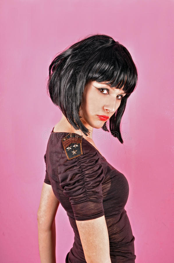 Download Girl in black blouse stock photo. Image of look, modern - 36102228