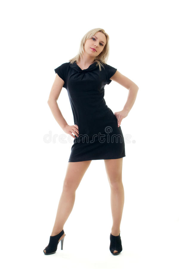 Download Girl in black dress stock photo. Image of person, elegance - 14852194