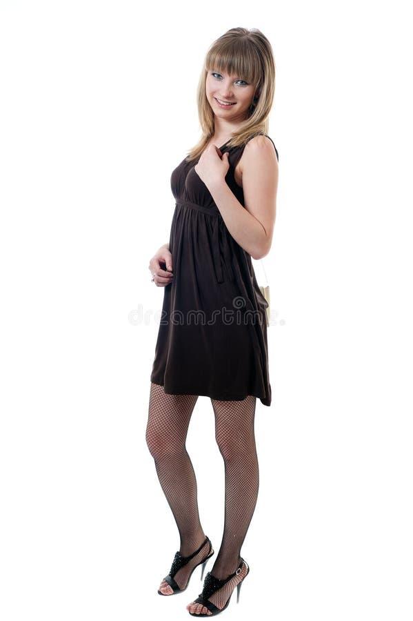 Download Girl In Black Dress Stock Photo - Image: 18650520