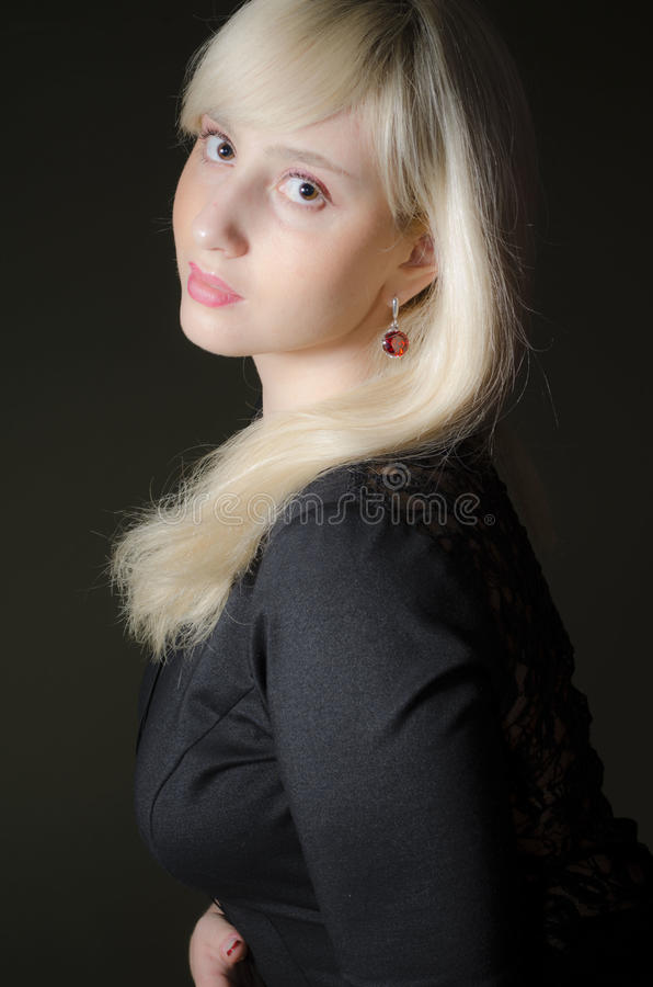 Download Girl In A Black Dress Royalty Free Stock Photo - Image: 28664295