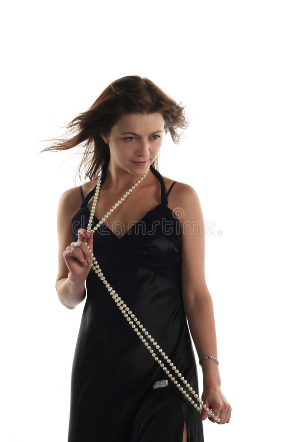 Download Girl in black dress stock image. Image of dress, luxury - 7492329