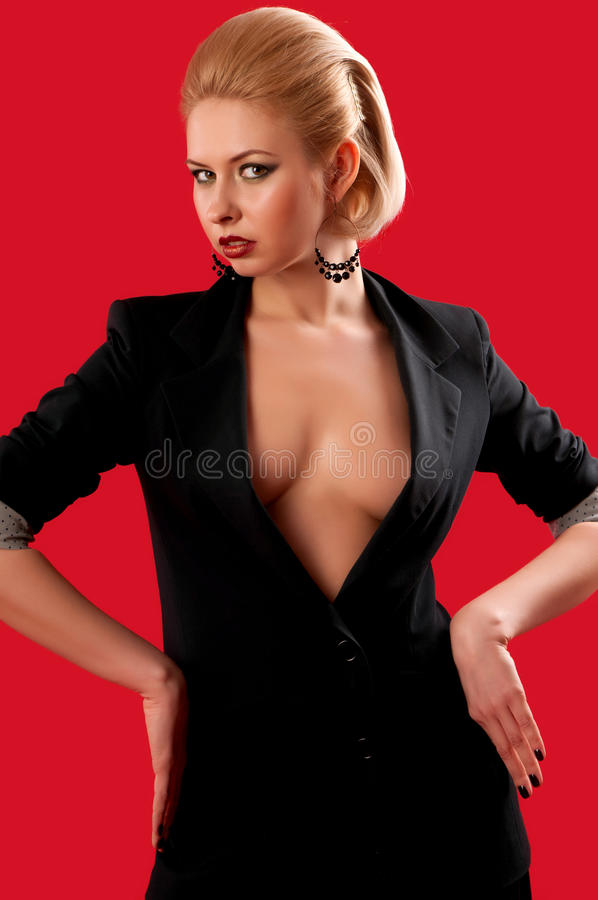 Download Girl in a black suit stock photo. Image of black, eyes - 24323962