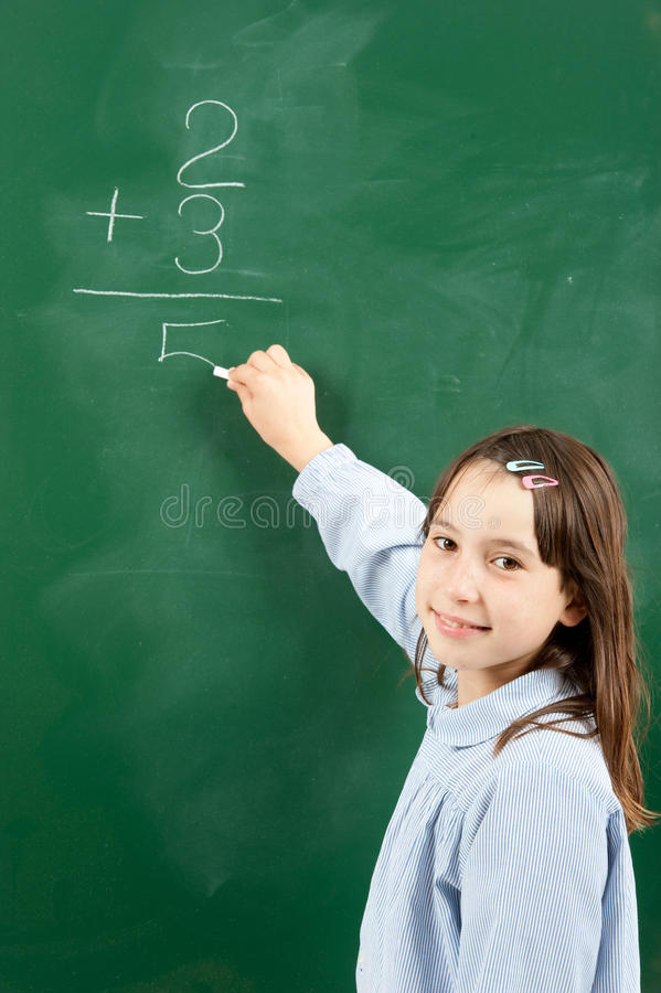 Download Girl With Blackboard Royalty Free Stock Photo - Image: 20060705