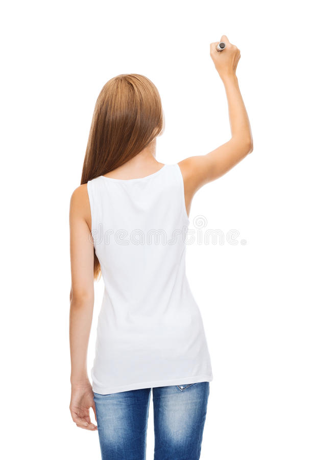 It is an image of Candid Girl Back View Drawing
