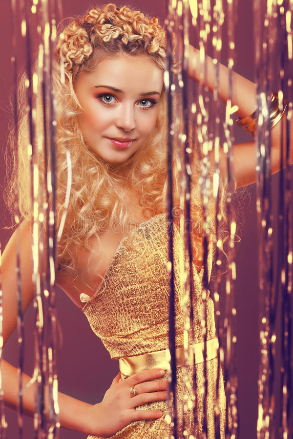 Download Girl with blond curly hair stock photo. Image of hair - 23245270