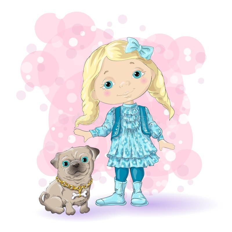 Girl blond gold 1 stock illustration