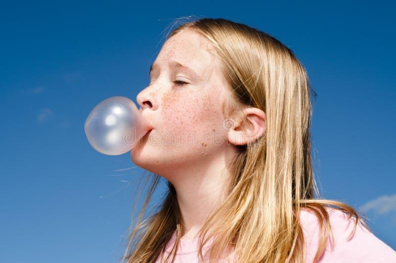 Bubble gum art bubble gum girl blowing bubble gum