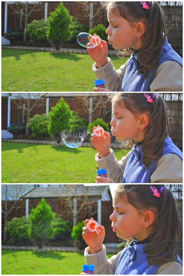 Download Girl Blowing Bubbles Stock Photo - Image: 24091820