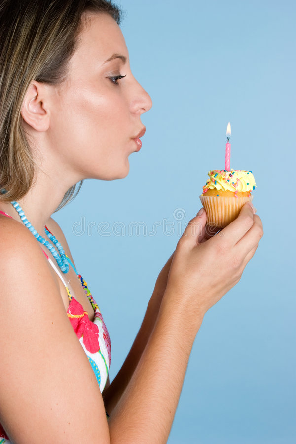 Download Girl Blowing Candle Royalty Free Stock Images - Image: 6779979