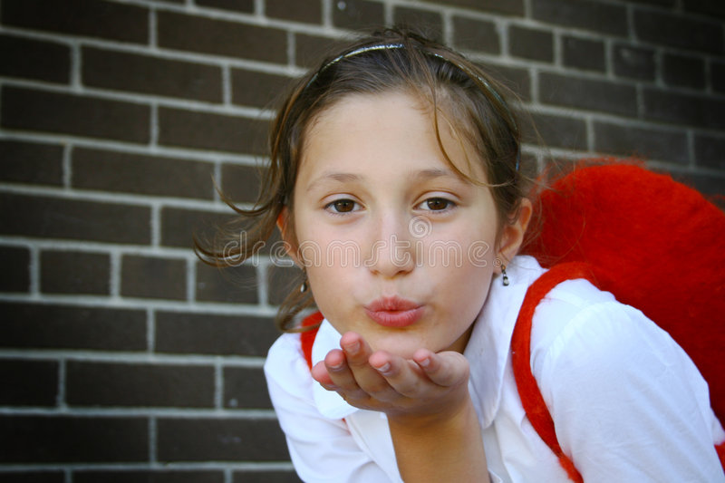 Download Girl blowing a kiss stock image. Image of lover, blow - 6352553