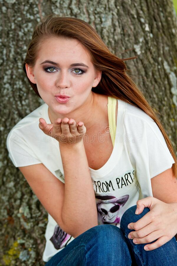 Girl Blowing Kiss Free Public Domain Cc0 Image