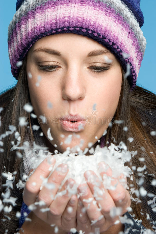 Download Girl Blowing Snow Stock Photography - Image: 11443602