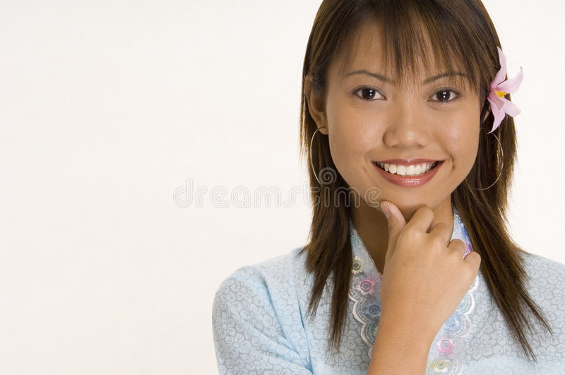 Download Girl In Blue 4 stock photo. Image of asian, eyes, malay - 171516